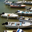 Stock Photo: Motorboats moored