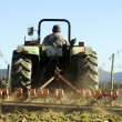 Stock Photo: Tractor ploughing field