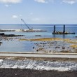 Stock Photo: Pier construction, Lages do Pico, Azores