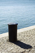 Quayside bollard — Stock Photo