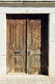 Old carved door — Stock Photo