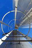Stainless steel stairway — Stock Photo