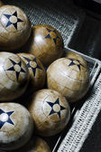 Wood balls — Stock fotografie