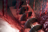 Winemaking machine — Stock Photo