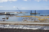 Pier construction, Lages do Pico, Azores — Stock Photo