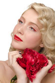Fashion makeup — Stockfoto
