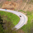Mountain road on island Sakhalin - Stock Photo