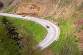 Mountain road on island Sakhalin — Stock Photo