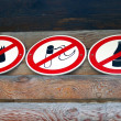 Royalty-Free Stock Photo: Forbiding signs.