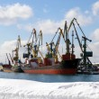 Stock Photo: Winter in seaports