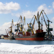 Quay in seaports in winter. — Stock Photo
