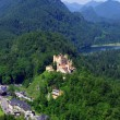 Stock Photo: Landscape with Castle Hohenschwangau