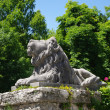 Stock Photo: Statue of brooding lion