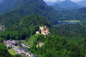 Landscape with Castle Hohenschwangau — Stock Photo