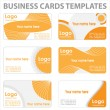 Stock Vector: Business cards templates