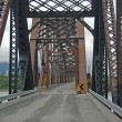 Stock Photo: The Million Dollar Bridge over the Copper River in Alaska