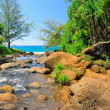Hanakapiai Creek in Hawaii — Stock Photo #5434470