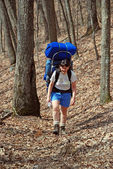 Backpacking on the Wolf Creek Trail — Stock Photo
