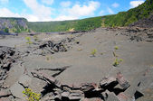 The crater flor of Kilauea Iki — Stock Photo