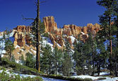 Bryce canyon in a Spring snow — Stock Photo
