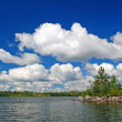 Stock Photo: Summer Clouds on Knife Lake