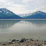 Mountain and a calm Bay — Stock Photo