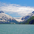 Foto de Stock  : Glacial carved mountains in Alaska