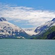 图库照片: Glacial carved mountains in Alaska