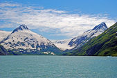 Glacial carved mountains in Alaska — Foto Stock