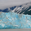 图库照片: Blue ice in the mountains