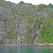 Stock Photo: Waterfall cliffs