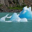 Blue ice in Portage Lake — Stock Photo