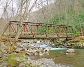 Old Bridge in the smokies — Stock Photo