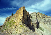 Rock cliffs of the Grand Tetons — Stock Photo