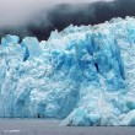 The Columbia Glacier in the fog — Stock Photo