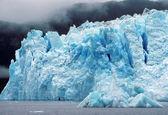 El glaciar columbia en la niebla — Foto de Stock