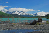 Glacial Lake in the mountains — Stock Photo
