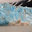 Blue ice calving — Stock Photo