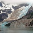 Foto Stock: Glacier in mist