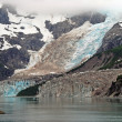 Glacier in the mist — Stock Photo