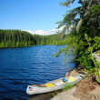 Canoe in camp in Boundary Waters — Photo #6404456