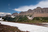 Mountains with Summer Snow — Stock Photo