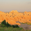 Sunset in badlands — Stock Photo