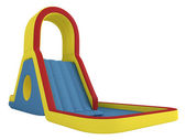 Inflatable children`s slide — Stock Photo