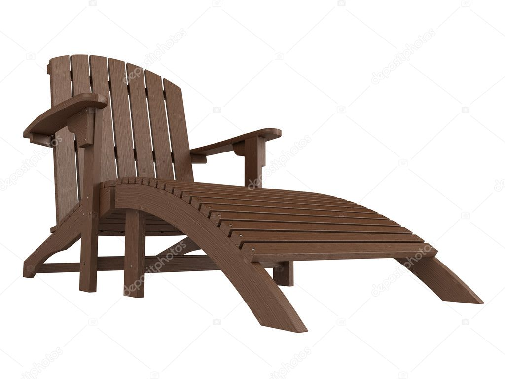 Wooden chaise lounge stock photo nmorozova 5398142 for Cedar chaise lounge plans