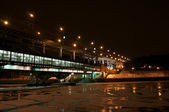 Natt bridge — Stockfoto
