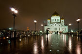 Cathedral of Christ the Savior by night — Stock Photo