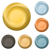Round metal buttons — Stock Vector