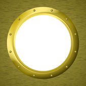 Window porthole in a wall — Stock Vector