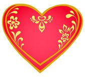 Valentine heart, pictogram — Stock Vector